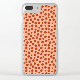 Irregular Small Polka Dots terracota Clear iPhone Case