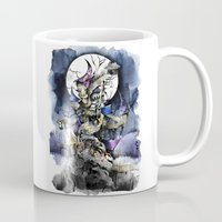 nightmare before christmas Mugs featuring The nightmare before christmas by Sandra Ink
