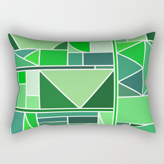 Kaku Green Rectangular Pillow