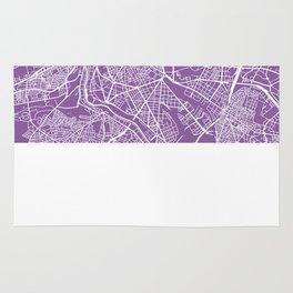 madrid map lilac Rug