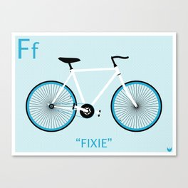 """""""F is for Fixie"""" Canvas Print"""
