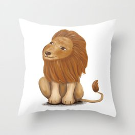 smile lion// illustration Throw Pillow