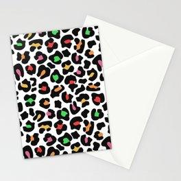 Colorful Leopard Print Stationery Cards