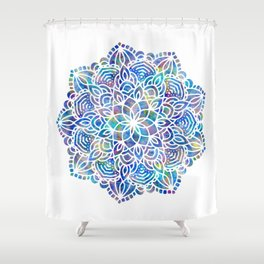 Mandala Little Mermaid Ocean Blue Shower Curtain