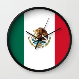 Mexican national flag Wall Clock