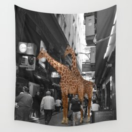 Safary in City. African Invasion. Wall Tapestry