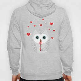 OWL, LOVE & BUBBLES (valentine animals heart) Hoody
