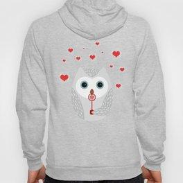 OWL, LOVE & BUBBLES (valentine animals heart) Hoody