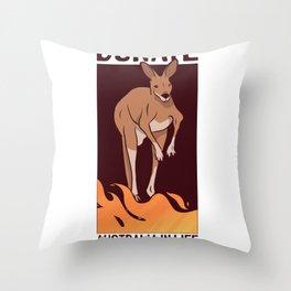 Donate for Australia Throw Pillow