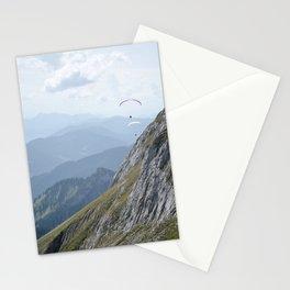 Parasailing over Mount Pilatus Stationery Cards