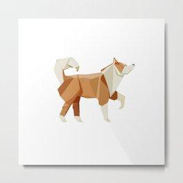 Husky origami Metal Print