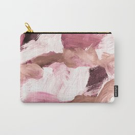 abstract painting VI - coffee and rose Carry-All Pouch
