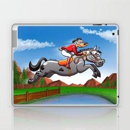 Olympic Equestrian Jumping Dog Laptop & iPad Skin