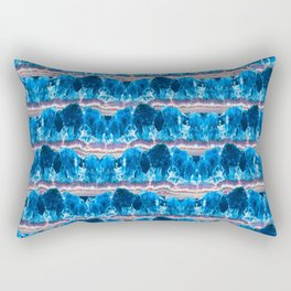 Blue Agate Geode Mountains Rectangular Pillow