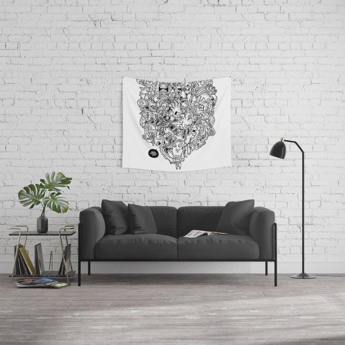 Oven Mitt Machine Wall Tapestry