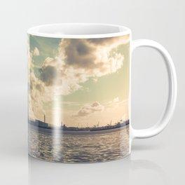 View of Poolbeg at low tide Coffee Mug
