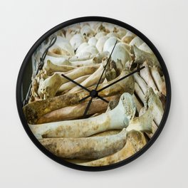 Bones & Skulls - The Killing Fields, PhnomPenh, Cambodia Wall Clock