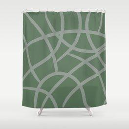 green giraff print Shower Curtain