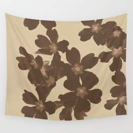Toffee Soybean Primrose Pattern Wall Tapestry