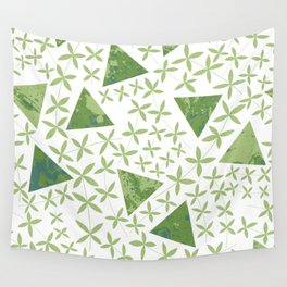 Shapes in Nature : Green Wall Tapestry