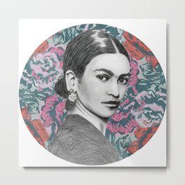 Floral Frida | The Unknown Starr Metal Print