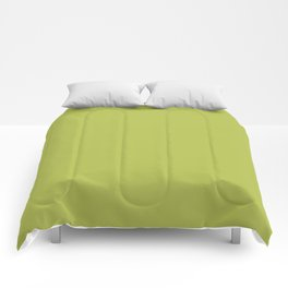 Bright Chartreuse Comforters