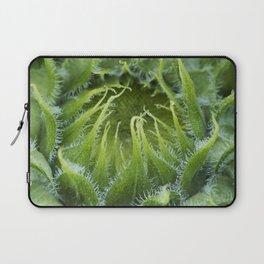 Teddy Bear Sunflower Bud Laptop Sleeve