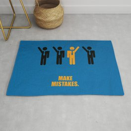 Lab No. 4 -Make Mistakes Inspirational, Corporate Startup Quotes poster Rug
