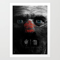 silence of the lambs Art Prints featuring Silence of the Lambs  by Dan K Norris