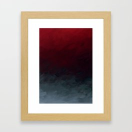 Inverted Fade Crimson Framed Art Print