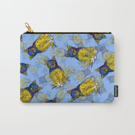 BAT CAT Pattern 1 Carry-All Pouch