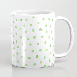 Pastel green polka dots Coffee Mug