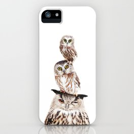 Stacked Owls iPhone Case