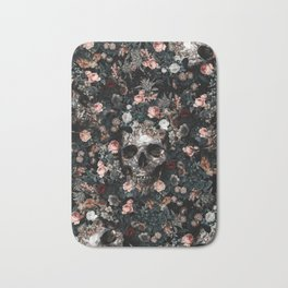 Skull and Floral pattern Bath Mat