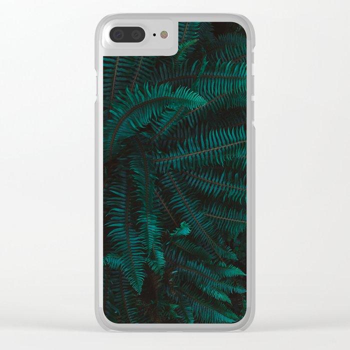 Blue Fern Twilight Clear iPhone Case