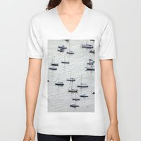 rio de janeiro V-neck T-shirts featuring Rio de Janeiro  by Rafael Baumer
