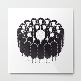 Being the White Sheep Metal Print