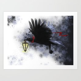 Crow - The Messanger Art Print