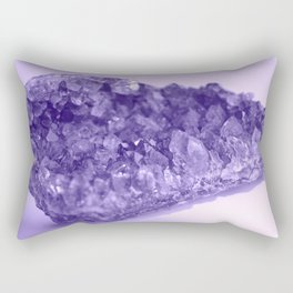 Sparkling Raw Amethyst Rectangular Pillow
