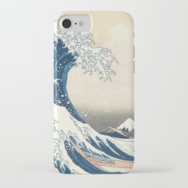 The Great Wave off Kanagawa by Katsushika Hokusai from the series Thirty-six Views of Mount Fuji iPhone Case