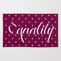 equality Area & Throw Rugs featuring Equality by Pia Spieler