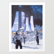 Galactic Skiing Art Print