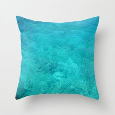 Clear Turquoise Water Throw Pillow
