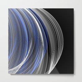 Sapphire Blue & White Swirls Metal Print