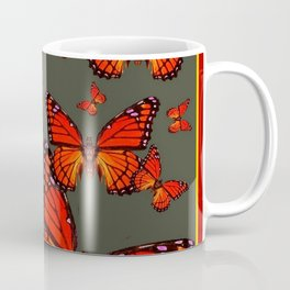 Orange is the  Color Of Monarch Butterflies Coffee Mug