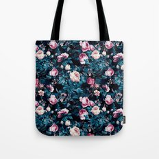Roses Blue Tote Bag