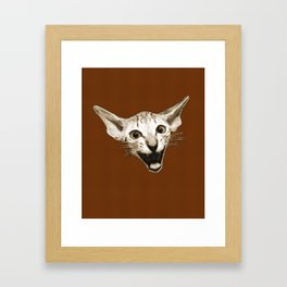 The Laughing Cat Framed Art Print