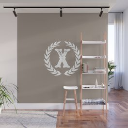 Beige Monogram: Letter X Wall Mural