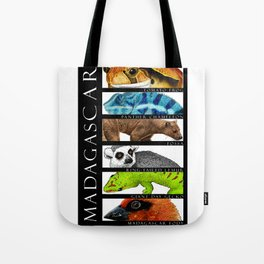 Animals of Madagascar Tote Bag