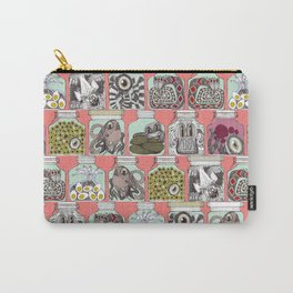 weird pickles coral Carry-All Pouch